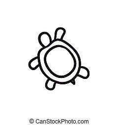 Turtle sketch icon.