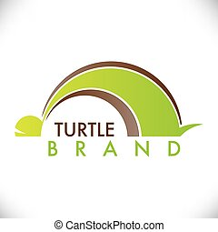 turtle symbol with green and brown color