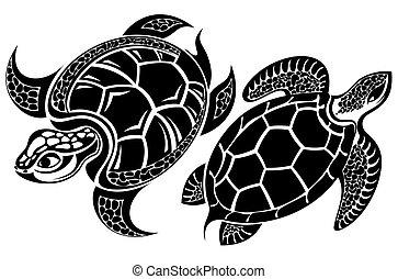 Turtle - Tattoo reptiles