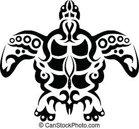 turtle tattoo silhouette
