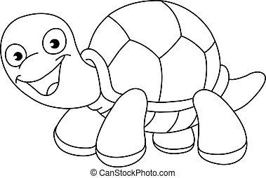 turtle, umrissen