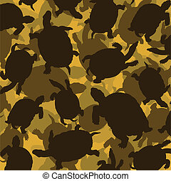Turtle vector background