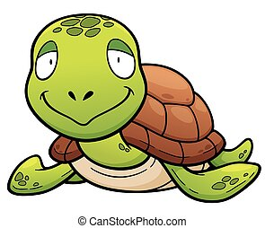 Turtle - Vector illustration of Cartoon turtle