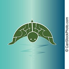Turtle wildlife, preservation vector design illustration