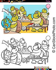 turtles student characters coloring book
