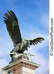 Turul Bird Statue in Budapest
