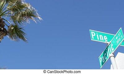 turysta, 101, tytuł, vacations.signboard, skrzyżowanie dróg...