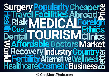 turystyka, medyczny, słowo, chmura