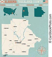 Tuscaloosa County in Alabama USA