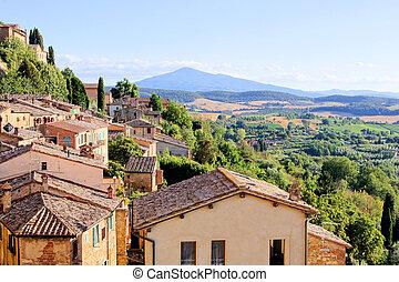 tuscan , βλέπω , ιταλία , χωριό