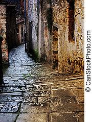 tuscan, 골목, 밤