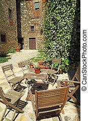 tuscan backyard, Italy, Europe