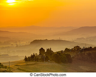 Tuscan Country Scenery