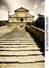 Tuscan historic architecture - example of italian historic...