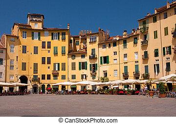 tuscan, historiske, arkitektur