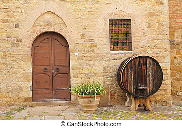 tuscan house doorway