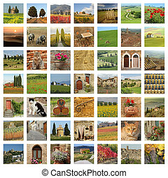tuscan lifestyle collage