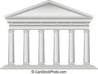 tuscan, roman temple