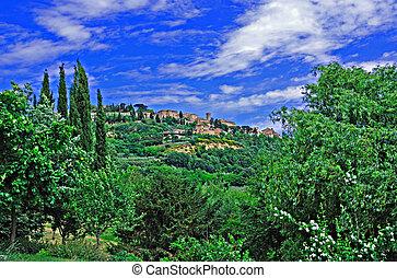 Tuscan Village of Montepulciano - Hilltop village of ...