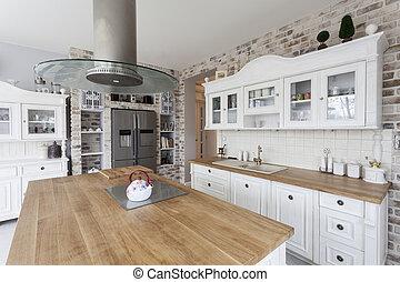 tuscany, 廚房, -, 架子