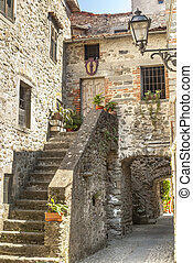 (tuscany), ancien, -, filetto, village