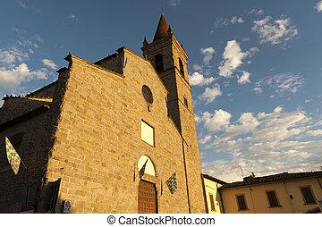 (tuscany, arezzo, italy), mittelalterlich, kirche