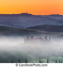 Tuscany at sunrise