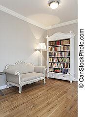 tuscany, boekenkast, -