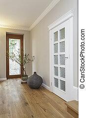 Tuscany - corridor and huge glass door