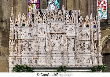 tuscany, donatus, włochy, arezzo, dedykował, st., styl, gotycka katedra, łuk