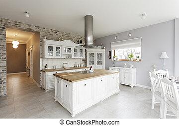 Tuscany - kitchen - Tuscany - white furniture in luxury...