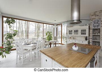 Tuscany - kitchen - Tuscany - bright interior of vintage...