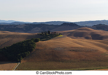 Tuscany landscape, around the city of Siena