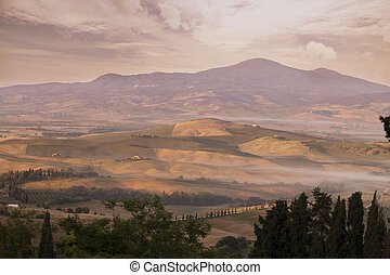 Tuscany Landscape at early morning