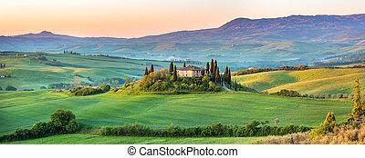 Tuscany landscape at spring