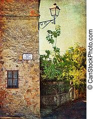 Tuscany landscape - Typical Tuscany landscape, a corner of a...