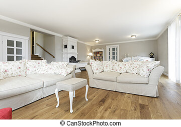 Tuscany - Living room with comfortable white sofa