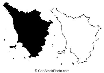 Tuscany map - Tuscany (Autonomous region of Italy) map...