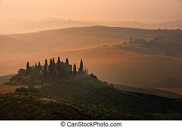 Tuscany - On the way to montalcino 5:30 am