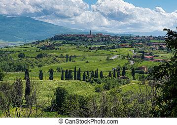 tuscany , pienza , βλέπω