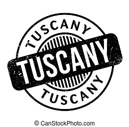 Tuscany rubber stamp. Grunge design with dust scratches....