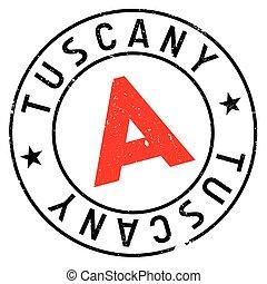 Tuscany stamp rubber grunge - Tuscany stamp. Grunge design...