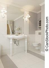 Tuscany - Wash basin - Tuscany - White wash basin in classic...