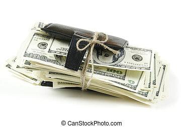 tusind, dollare, inderside