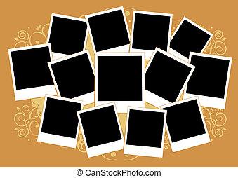 tussenvoegsel, afbeelding, collage, frame, photos.,...