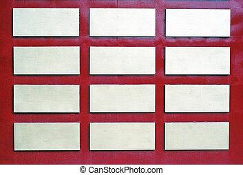 tussenvoegsels, muur, bourgogne, rectangel, achtergrond, witte