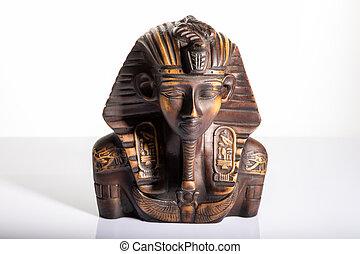 tutankhamun, エジプト人, ファラオ, 隔離された, 肖像画, 彫刻