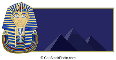Tutankhamun and Pyramids - Background illustration of...