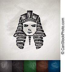 Tutankhamun icon. Chalkboard Design