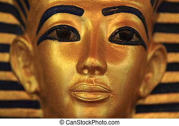 Tutankhamun's sarcophagus - detail of pharao history